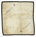 Political:Memorial (1800-present), Very Unusual 1865-Dated Cloth Lincoln Mourning Handkerchief. While many varieties of mourning ribbons were produced, this is...