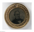 Political:Ferrotypes / Photo Badges (pre-1896), Choice Larger-Size 1860 Bell & Everett Ferrotype. Nearly theequal in quality to its Lincoln mate, offered elsewhere in this...