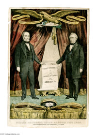 Perhaps the Rarest of the Currier Grand National Banner Series: The 1860 Bell & Everett. To call this variety pr...