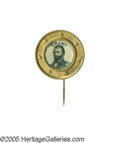 Political:Ferrotypes / Photo Badges (pre-1896), Choice U.S. Grant Ferrotype Pin. A very scarce and attractive frameand original pin complement this fine example. A point s...