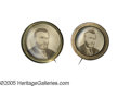 Political:Ferrotypes / Photo Badges (pre-1896), A Pair of Ulysses S. Grant Portrait Pins. By sheer coincidence, weoffer in this auction not only a matched pair of Greeley ...