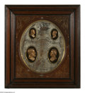 Political:3D & Other Display (pre-1896), Gorgeous 1872 Grant & Wilson Wall Plaque. This is the companion piece to the 1868 Grant and Colfax version also offered in t...