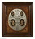 Political:3D & Other Display (pre-1896), Spectacular 1868 Grant & Colfax Campaign Wall Plaque. By thesame manufacturer as the more familiar 1872 version, but, stran...