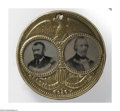 """Political:Ferrotypes / Photo Badges (pre-1896), Rare Large 1872 Grant & Wilson """"Porthole"""" Jugate Ferrotype. The""""mate"""" to the Greeley & Brown also offered in this sale! The..."""