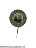 Political:Ferrotypes / Photo Badges (pre-1896), Beautiful 1872 Horace Greeley Ferrotype Pin. This lovely examplefrom the Joe Brown Collection is very frustrating: the fer...