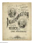 """Political:Inaugural (1789-present), 1877 Hayes & Wheeler Jugate Inauguration Sheet Music titled """"Inauguration Grand March Respectfully Dedicated to the Presid..."""