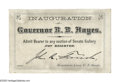 Political:Small Paper (pre-1896), Extremely Rare Rutherford B. Hayes Inaugural Ticket. This is forhis Presidential Inauguration, in the United States Senate...