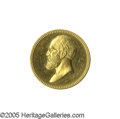 Political:Memorial (1800-present), Rare Solid Gold James A. Garfield U.S. Mint Memorial Medal. Re-struck in bronze by the mint for decades, this is one of the ...