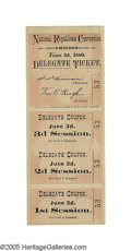 Political:Small Paper (pre-1896), 1880 Chicago Republican National Convention Full Ticket. Even stubs from the pre-1884 national conventions are rare. But thi...