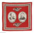 Political:Textile Display (pre-1896), 1880 Garfield & Arthur Jugate Bandana. One of only two basicjugate designs produced for this ticket. This is the nicer vari...