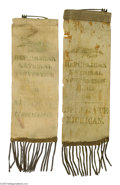 "Political:Ribbons & Badges, Two Rare ""Delegate"" and ""Alternate"" Ribbon Badges From the 1888 Republican National Convention. Pre-1896 official delegate's..."