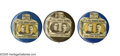 """Political:Pinback Buttons (1896-present), A Set of All Three Varieties of the Classic 1 1/4"""" McKinley & Roosevelt """"Full Dinner Bucket"""" Jugates. Many are unaware, but ..."""