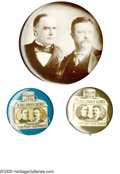 "Political:Pinback Buttons (1896-present), Large Group of McKinley & Roosevelt Pinback Buttons consistingof 22 celluloid jugate buttons in various sizes from 7/8"" to ...(Total: 22 )"