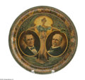 Political:3D & Other Display (1896-present), Beautiful 1900 Bryan & Stevenson Jugate Litho Tin Tray. This is the mate to the McKinley & Roosevelt also offered in this sa...