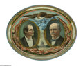 Political:3D & Other Display (1896-present), A Rare, Exceptional Example of the Oval 1900 Bryan & Stevenson Litho Tin Serving Tray. Oddly, the Bryan & Stevenson variety ...