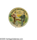 "Political:Pinback Buttons (1896-present), Gorgeous Full-Color Version of the Classic 1 1/4"" Button PicturingWilliam Jennings Bryan Shaking Hands With an American Labor..."