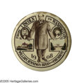"""Political:Pinback Buttons (1896-present), One of the Most Desirable 1908 William Jennings Bryan Buttons. This large 2 1/4"""" design includes a play on Lincoln and Washi..."""
