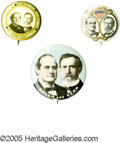 Political:Pinback Buttons (1896-present), Five 1908 Bryan & Kern Jugate Pinback Buttons. In his third run for the presidency, Bryan's running mate was Indiana politic... (Total: 5 )
