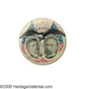"Political:Pinback Buttons (1896-present), Stunning 1 1/4"" 1904 Roosevelt & Fairbanks Jugate Button.Beauty, distinctive design, and rarity come together to make this..."