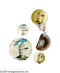 """Political:Pinback Buttons (1896-present), Lot of Teddy Roosevelt """"Rough Rider"""" Pinback Buttons. Upon his return from the Spanish-American War, Theodore Roosevelt was ... (Total: 4 )"""