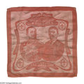 Political:Textile Display (1896-present), Woven Teddy Roosevelt Miniature Handkerchief From the 1904 St.Louis World's Fair. Actually manufactured in Germany, it show...