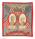 Political:Textile Display (1896-present), An Exceptionally Nice Example of this Classic 1904 Roosevelt &Fairbanks Jugate Bandana. This is one of the most attractive ...