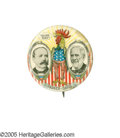 """Political:Pinback Buttons (1896-present), Classic 1904 Parker & Davis """"Shure Mike"""" Jugate Button. Despite years of inquiries, to our knowledge no one has ever been ab..."""