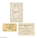 Political:Small Paper (1896-present), Group of Five Suffrage Paper Items This lot includes 1). Amembership card for the Women's Social and Political Union ...(Total: 5 )
