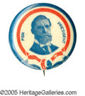 """Political:Pinback Buttons (1896-present), Tough, Striking Red, White, and Blue 1 1/4"""" Charles Evans HughesButton From 1916. Hughes was favored to win the 1916 electi..."""