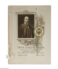 Political:Small Paper (1896-present), Superb Elegant 1911 Charles Evans Hughes Menu. Honors him as anassociate Supreme Court Justice, at a dinner by the New York...