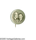 "Political:Pinback Buttons (1896-present), Rare 1920 Harding & Coolidge 7/8"" Jugate Button. This is the3rd rarest ticket for whom to obtain a jugate pinback. Although..."
