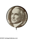 "Political:Pinback Buttons (1896-present), Dramatic Large 1 3/4"" Harding Campaign Button. Bold design,impressive size, and rarity combine to make this one of the most..."