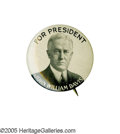 """Political:Pinback Buttons (1896-present), Key 1 1/4"""" 1924 John W. Davis Pinback Rarity. This strong yetsimple design, favored by collectors because it spells out his..."""