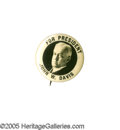 "Political:Pinback Buttons (1896-present), Bold, Dramatically-Designed 1 1/4"" 1924 John W. Davis Pinback. Oneof the nicest, if simplest, single-picture button designs..."