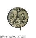 """Political:Pinback Buttons (1896-present), Supreme 1924 Coolidge & Dawes Jugate Button Rarity: """"Coolidge& Dawes for the Nation's Cause"""". In this and the the lastAmer..."""