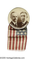 "Political:Pinback Buttons (1896-present), Pristine, Rare 1 1/4"" Coolidge & Dawes Jugate Pinback This andother similar button varieties by this manufacturer tend to c..."