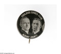 """Political:Pinback Buttons (1896-present), 1924 Coolidge & Dawes """"Albany County"""" Jugate. The only variant produced by Bastian Brothers during its 1924-1932 black-backg..."""