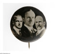 "Political:Pinback Buttons (1896-present), Extremely Rare 1 1/4"" Calvin Coolidge Trigate, Featuring Him as aMassachusetts Governor Candidate. One of only several exam..."