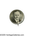 """Political:Pinback Buttons (1896-present), A Very Tough 7/8"""" 1924 Calvin Coolidge Button Style. This very distinctive design is seldom offered for sale. Choice conditi..."""