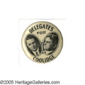"""Political:Pinback Buttons (1896-present), Tough 1924 Coolidge """"Hopeful"""" Item, Used at the 1924 G.O.P. National Convention. This tough 1"""" variety appeals to Coolidge a..."""
