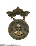Political:Inaugural (1789-present), Very Scarce Calvin Coolidge Portrait Inaugural Badge. A rather dourCoolidge image on this well-made souvenir of his 1925 In...