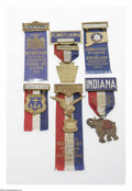 Political:Ribbons & Badges, Group of Six Official 1924 Republican National Convention Badges from New York, Ohio, Connecticut, Pennsylvania, Ohio, and R...