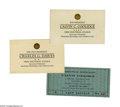 """Political:Small Paper (1896-present), Group Lot of Six Exceptional Calvin Coolidge Paper Items. 1). Two official engraved and embossed """"ballots"""" cast for Cool..."""