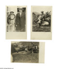 """Political:Small Paper (1896-present), Five Calvin Coolidge Real Photo Postcards. One with the First LadyGrace showing him as a """"man of the people."""" In what was p..."""