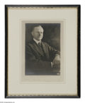 Autographs:U.S. Presidents, Fine Calvin Coolidge Autographed Photo. Studio photo by Harris& Ewing of Washington, D.C. A youthful image that would seem...
