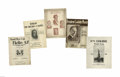 Political:Small Paper (1896-present), Group Lot of Five Pieces of Calvin Coolidge Sheet Music. Includes several unusual varieties, one a trigate with Ed Jackson o...