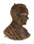 Political:3D & Other Display (1896-present), Most Unusual Large Calvin Coolidge Brass Shell Portrait Plaque We have not seen this striking item before. An excellent larg...