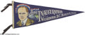 Political:Inaugural (1789-present), Superb Colorful Calvin Coolidge Inaugural Felt Pennant. We havenever seen this bold, colorful design before. Magnificent co...