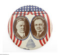 Political:Pinback Buttons (1896-present), Choice Huge 1928 Hoover & Curtis Litho Tin Jugate. In the formis a button, with rims curled under, but tiny holes at 3 o'cl...