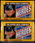 Baseball Cards:Unopened Packs/Display Boxes, 1994 Upper Deck All-Time Heroes Unopened Box Pair (2)....